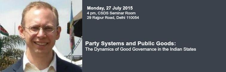 Party Systems and Public Goods Banner