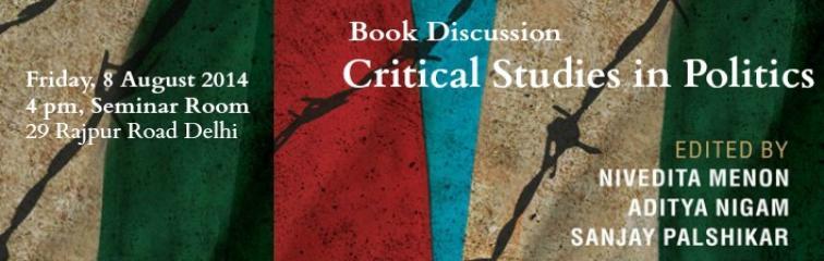 Critical Studies in Politics Banner