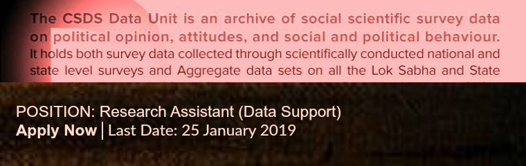 Position for Research Assistant (Data Support) banner