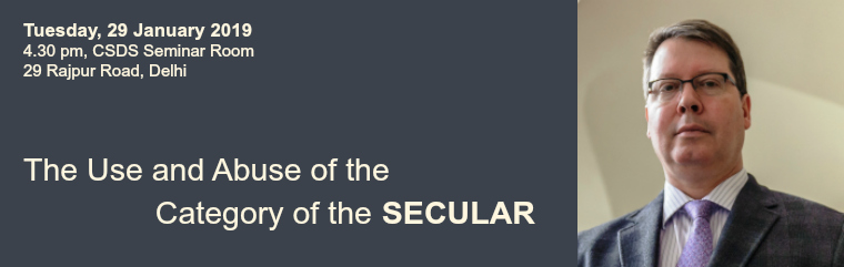 The Use and Abuse  of the Category of the Secular