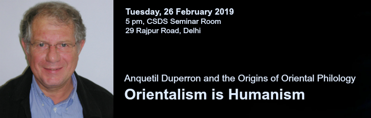 Anquetil Duperron and the Origins of Oriental Philology banner