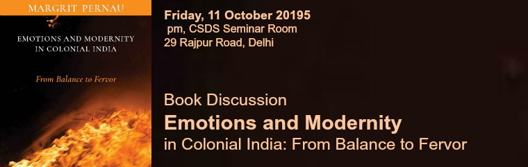 Emotions and Modernity in Colonial India banner