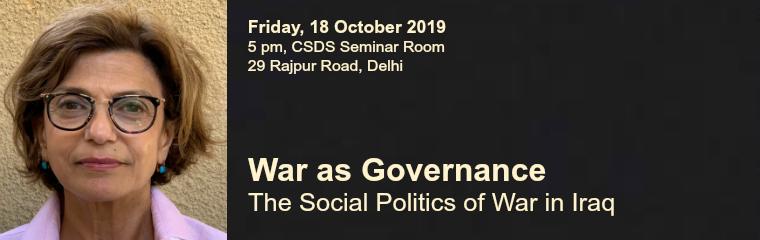 War as Governance banner