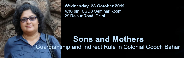 Sons and Mothers: Lecture by Mallarika Sinha Roy banner