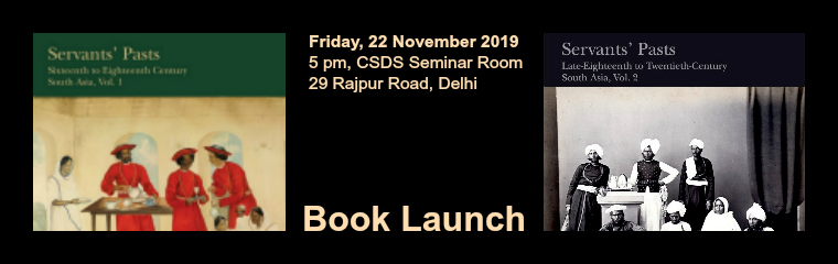 Servants' Pasts, Volumes 1 and 2: Book Launch banner
