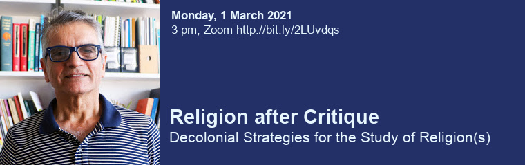 Religion after Critique: Lecture by Abdulkader Tayob banner
