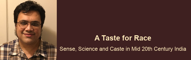 A Taste for Race: Lecture by Projit Bihari Mukharji banner